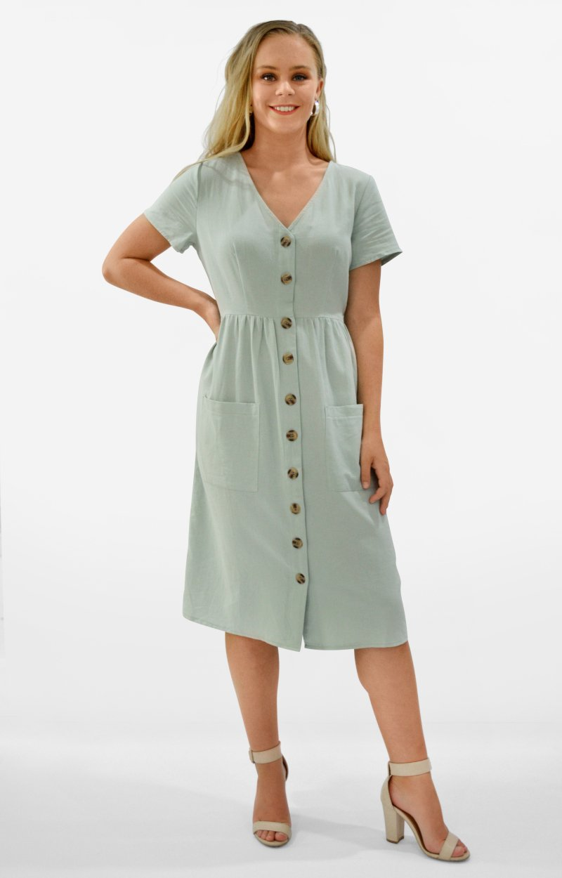 Holley Dress in Sage