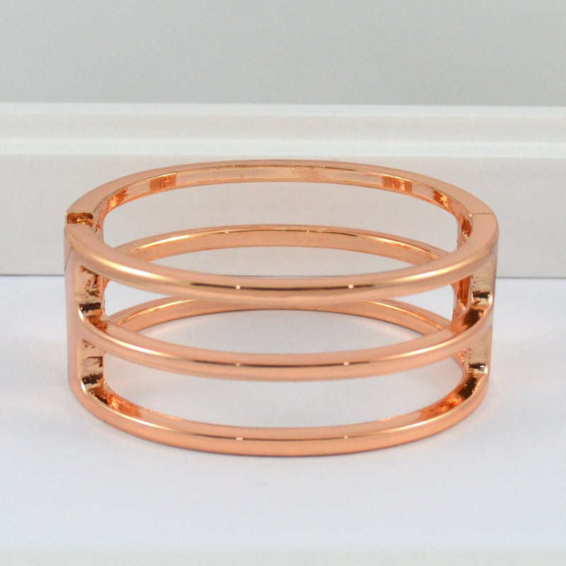 Rose Gold Stipe Bangle
