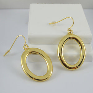 Gold Drop Oval Earrings