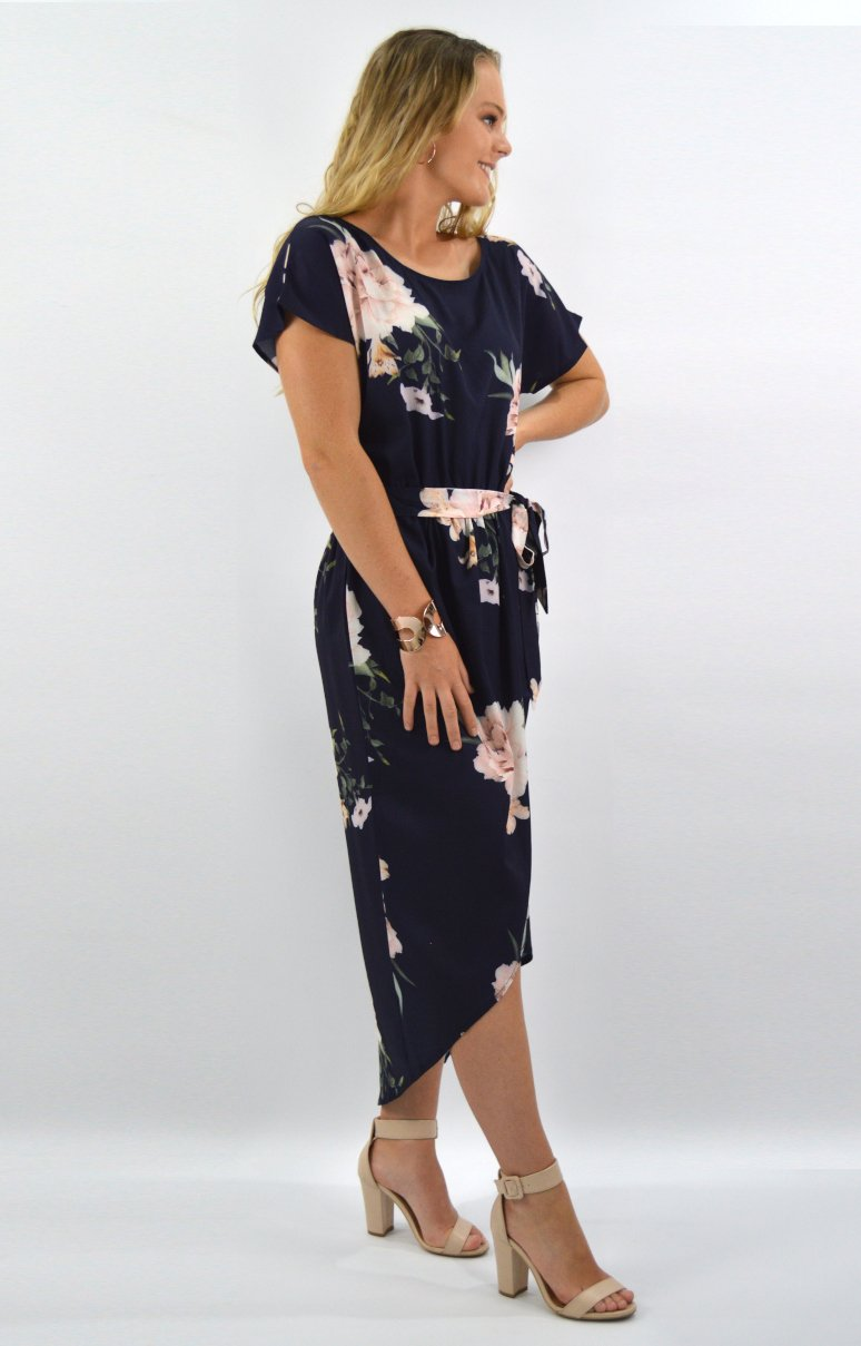 Isla Dress in Navy Floral