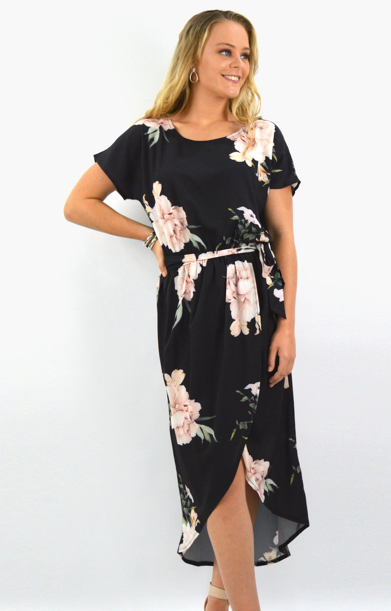 Isla Dress in Black Floral