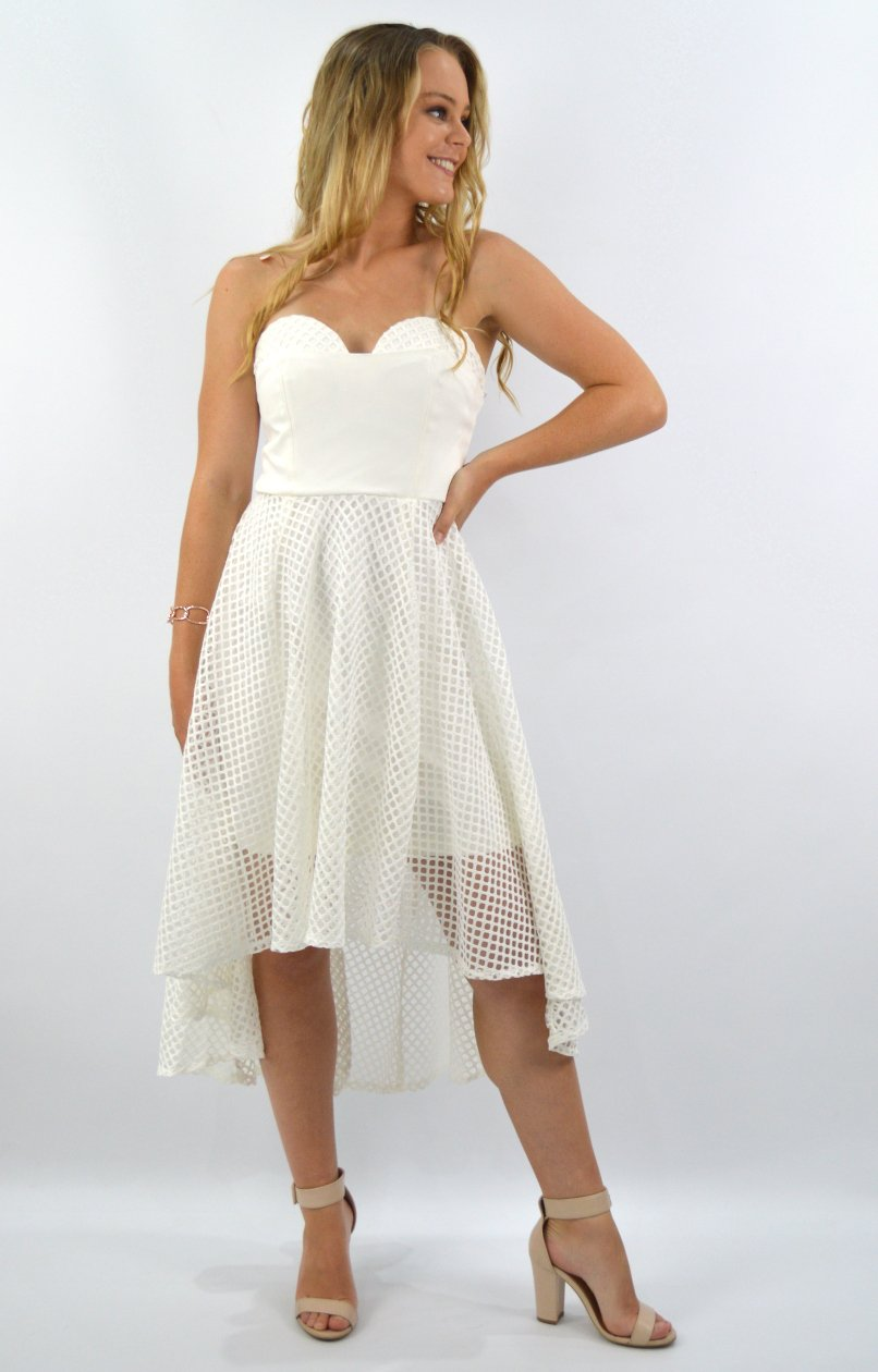 Danni Dress in White