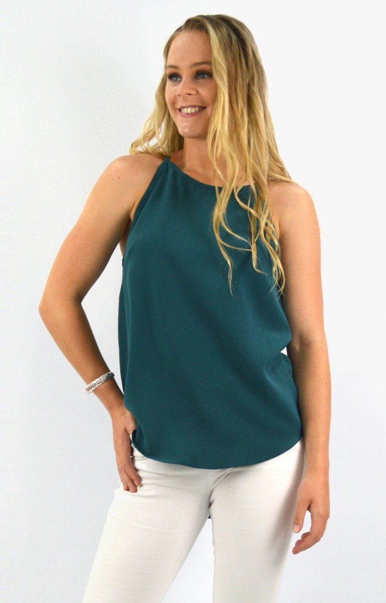 Maive Top in Teale