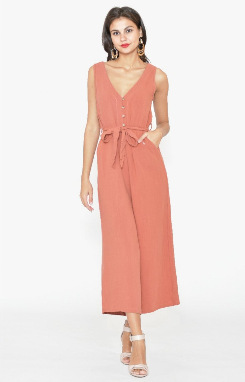 Mika Jumpsuit in Rust