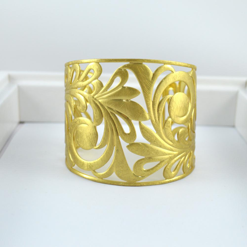Gold Brushed Ornate Cuff