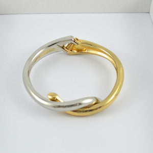 Gold and Silver Twist Bracelet