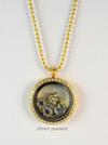 Gold Crystal Memory Locket Pendant