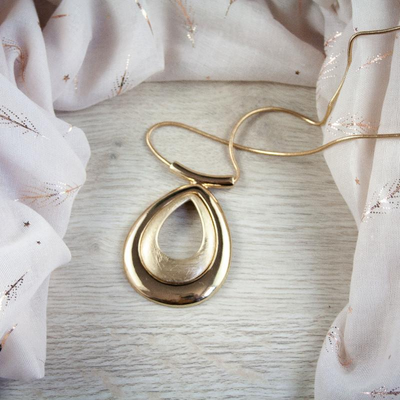 Lana Long Gold Tear Drop Necklace