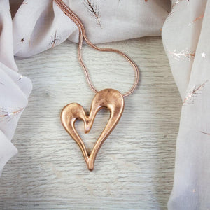 Thalia Long Pendant in Rose Gold
