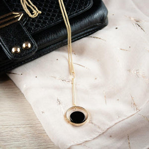 Tia Long Gold  Drop Pendant
