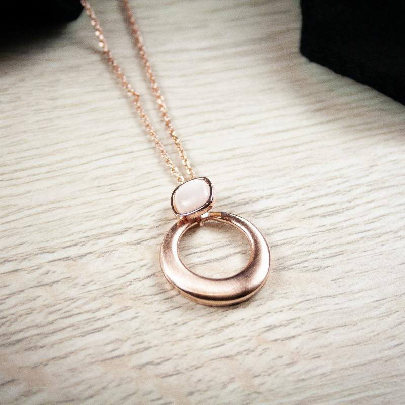 Stella Rose Gold Round Necklace
