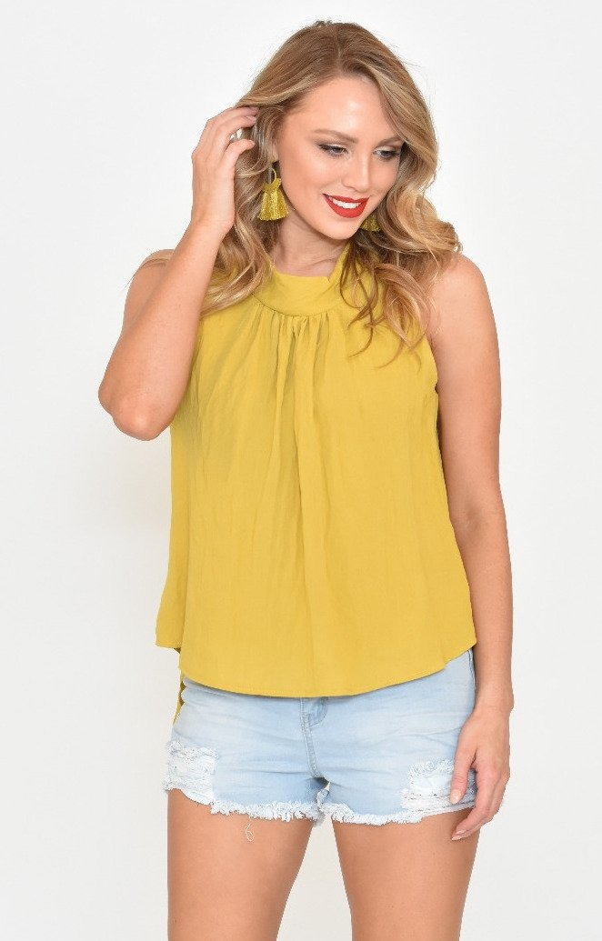 Ada Top in Mustard