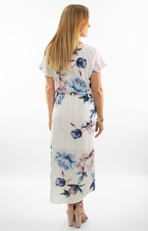 Isla Dress in White Floral