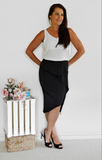 Jacqui Black Frill Skirt