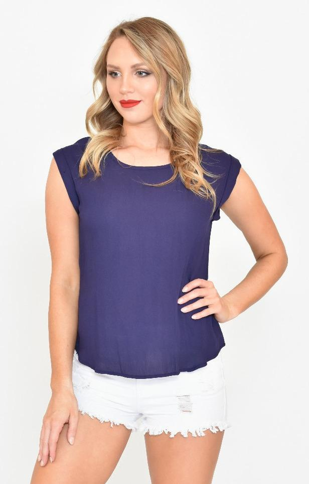 Keira top in Navy