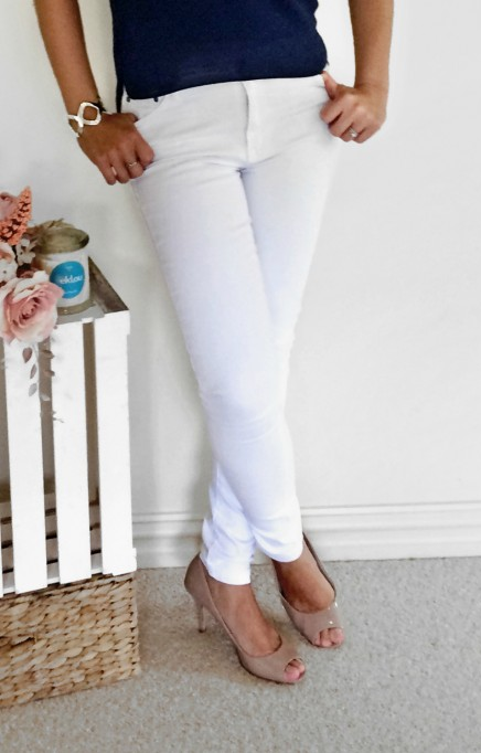 Libby stretch jeans in white
