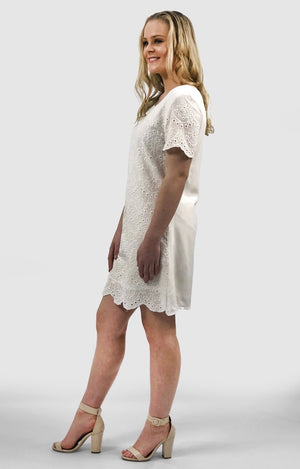 Mia Lace Dress in White