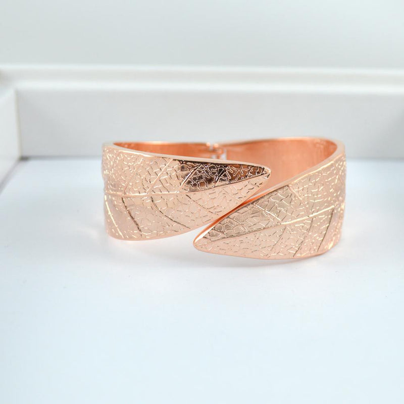 Rose Gold Leaf Bangle