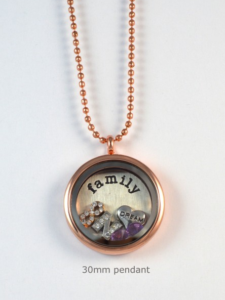 Rose Gold Memory Locket Pendant