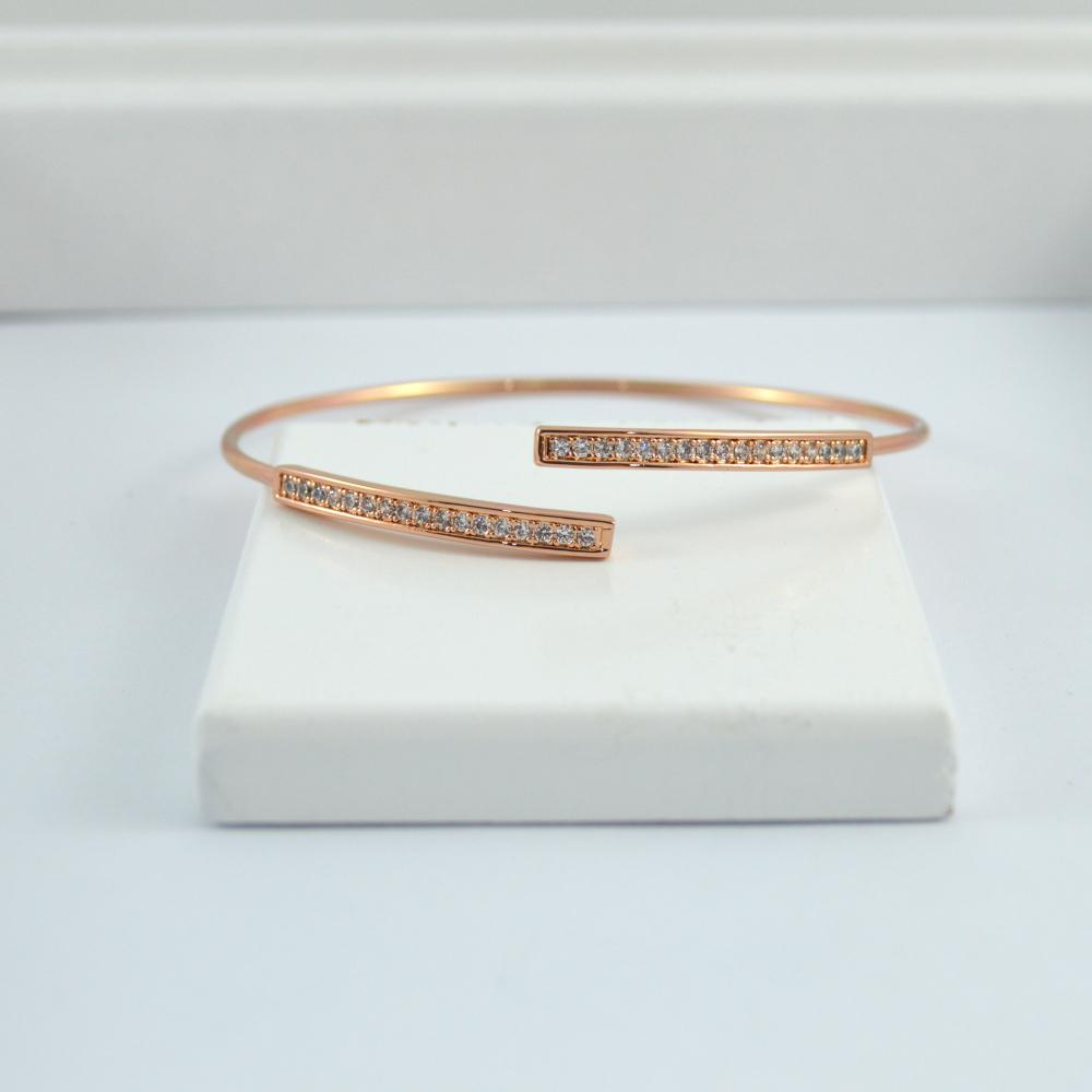 Rose Gold Bracelet with Bling Detail