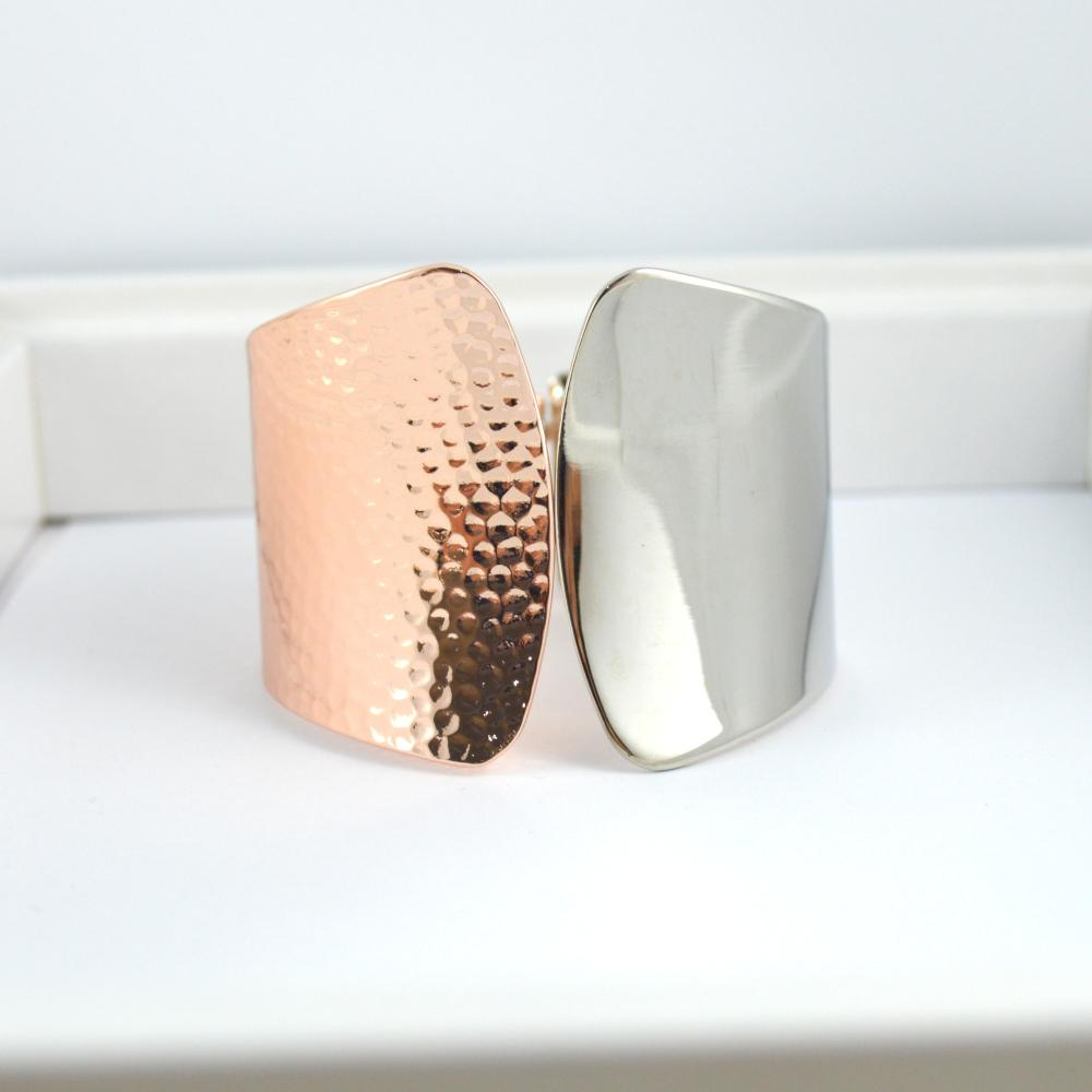 Rose Gold and Silver Wrist Cuff