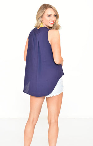 Ada Top in Navy