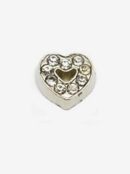 Crystal Heart Charm