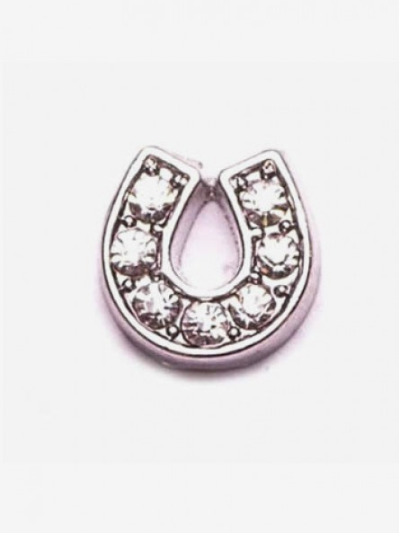 Crystal Horse Shoe Charm