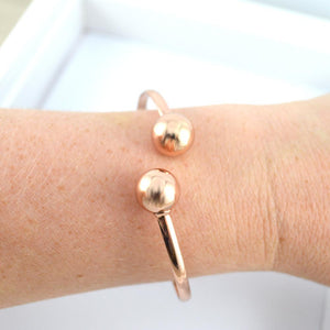 Rose Gold Ball Bangle
