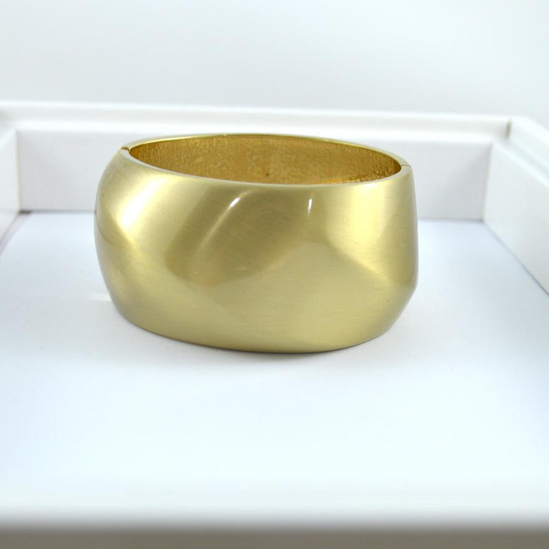 Gold Brushed Wide Bracelet