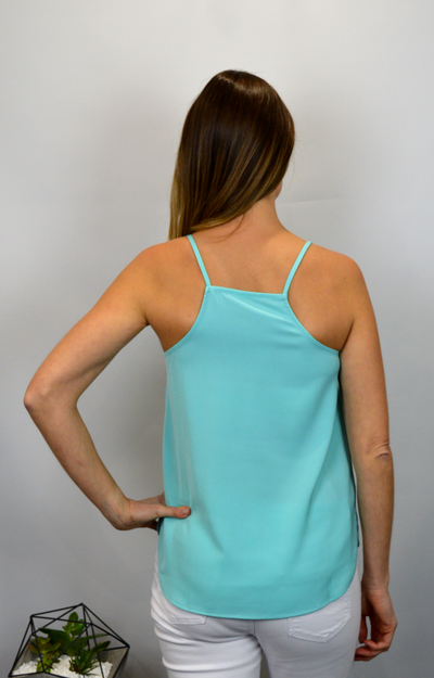 Sienna Strap Top in Aqua