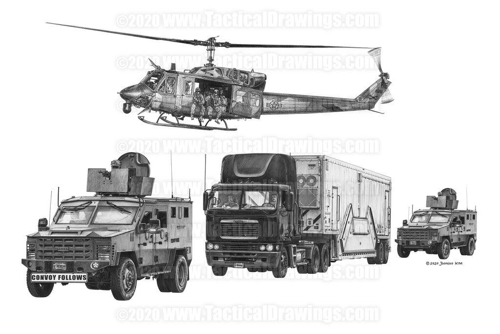 Nuclear Missile Payload Transporter Security Convoy
