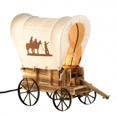 Western Wagon Table Lamp 10015679 Free Shipping - House Home & Office - Fits My Budget