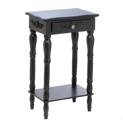 Colonial Carved Black Side Accent Table 10015081 Free Shipping - House Home & Office - Fits My Budget