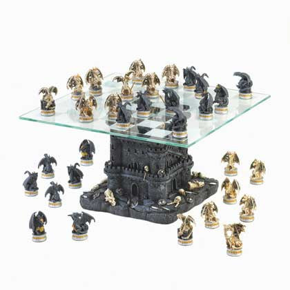 Ultimate Chess Black Tower Dragon Chess Set 10015192 Free Shipping - Sports & Games - Fits My Budget
