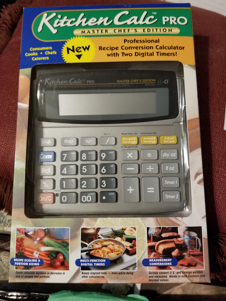 Calculated Industries Kitchen Calculator KitchenCalc Pro Master Chef Edition Calculator Free Shipping