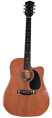 Main Street Natural Color Dreadnought Acoustic Guitar MA241 - Musical Instruments - Fits My Budget