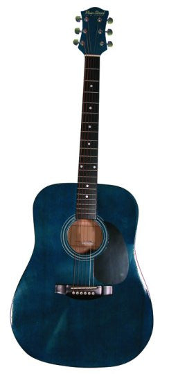 Main Street Transparent Blue Dreadnought Acoustic Guitar MA241 - Musical Instruments - Fits My Budget