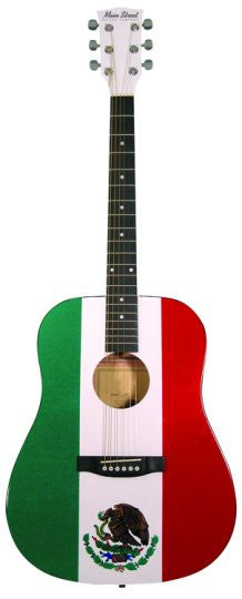 Main Street Mexican Flag Dreadnought Acoustic Spruce Top Guitar MAMF - Musical Instruments - Fits My Budget