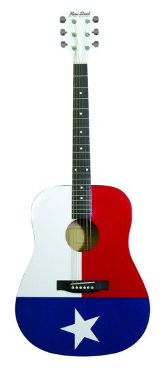 Main Street Texas Flag Dreadnought Acoustic Spruce Top Guitar - Musical Instruments - Fits My Budget