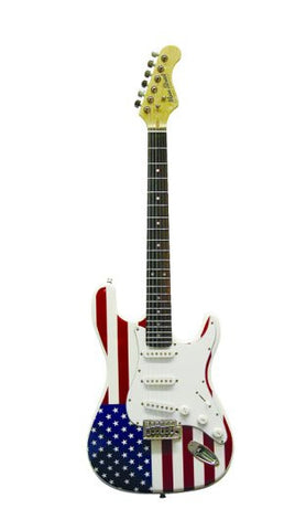 Main Street Double Cutaway Solid Body Guitar with American Flag MEDCAF - Musical Instruments - Fits My Budget