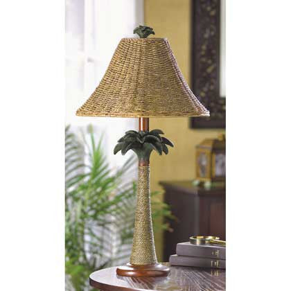 Rattan Styled Palm Tree Lamp 37989