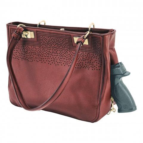Cameleon Radiant Conceal Carry Handbag in Wine Free Shipping