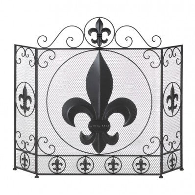 Fleur-de-Lis Fireplace Screen 10016005 Free Shipping - House Home & Office - Fits My Budget