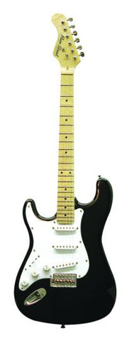 Main Street Double Cutaway Left Handed Electric Guitar in Black MEDCBKL - Musical Instruments - Fits My Budget