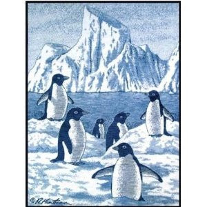 Biederlack Cuddlewrap Arctic Penguins 45x40 B2331 Free Shipping - Blankets & Bedding - Fits My Budget