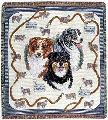 Australian Shepherd Tapestry Throw Blanket TPM614 - Blankets & Bedding - Fits My Budget