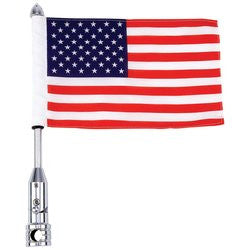 Diamond Plate BKFLAGPL Motorcycle Flagpole Mount and USA Flag - Luggage & More - Fits My Budget