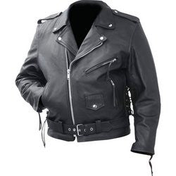 Rocky Mountain Hides BKMCBM Genuine Cowhide Leather Classic Motorcycle Jacket - Apparel & Accessories - Fits My Budget