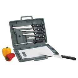 Maxam CT82 Knife Set and Cutting Board with case